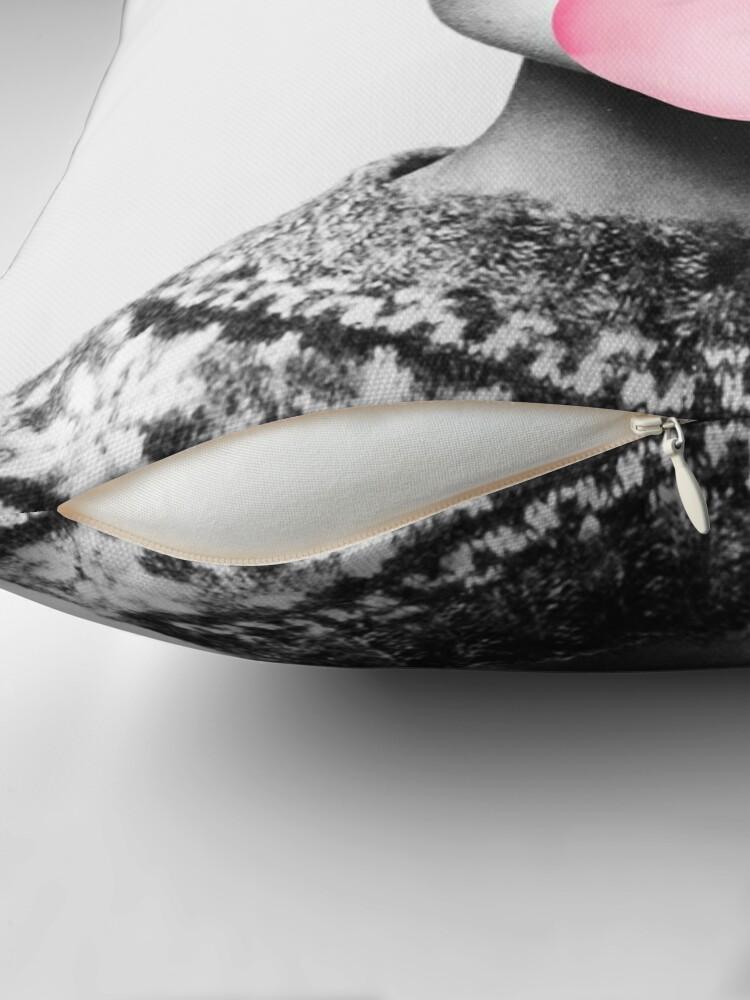 Alternate view of Twiggy print, celebrity, Scandinavian, Nordic, Trendy print, Styled, Scandinavian art, Modern art, Wall art, Print, Minimalistic, Modern Throw Pillow