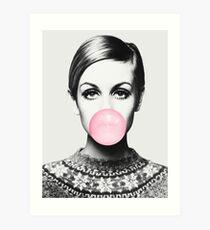 Twiggy Print, Berühmtheit, Skandinavisch, Nordic, Trendy Print, Stil, skandinavische Kunst, Moderne Kunst, Wandkunst, Print, minimalistisch, Modern Kunstdruck