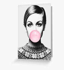Twiggy Print, Berühmtheit, Skandinavisch, Nordic, Trendy Print, Stil, skandinavische Kunst, Moderne Kunst, Wandkunst, Print, minimalistisch, Modern Grußkarte