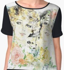 Friends and Roses Chiffon Top