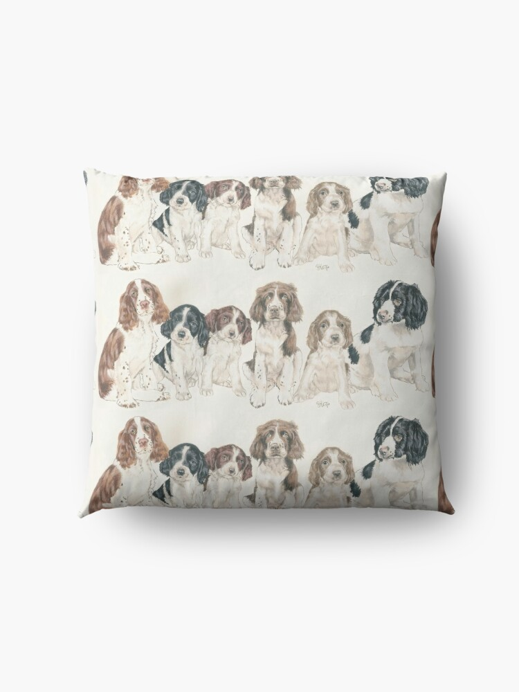 Alternate view of English Springer Spaniel Puppies Floor Pillow