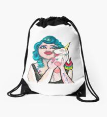 PRETTY BLUE Drawstring Bag