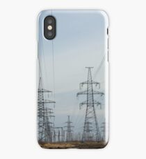 a lot High voltage power lines iPhone Case/Skin