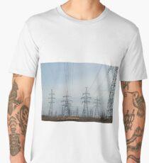 a lot High voltage power lines Men's Premium T-Shirt