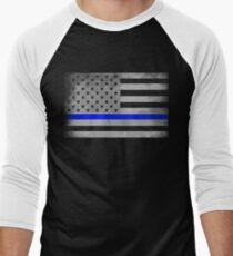 Blue Lines Matter Men's Baseball ¾ T-Shirt