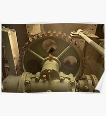 Gearbox with large gear wheel Poster