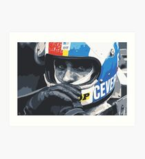 Francois Cevert Helmet Art Print