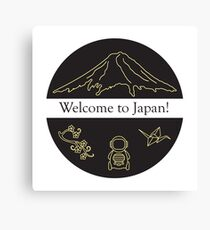 Set of Japan traditional design elements. Canvas Print