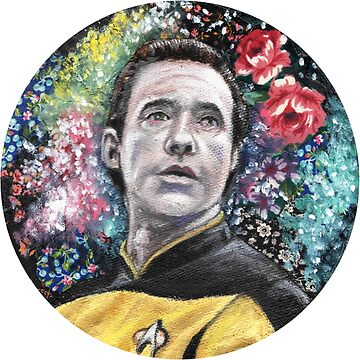 Brent Spiner, Android Floral Space Galaxy by fugitiverabbit