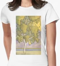 The Single Tree Stands Women's Fitted T-Shirt