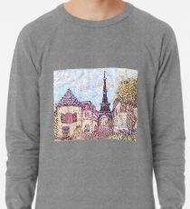 Paris Eiffel Tower inspired pointillism landscape by Kristie Hubler Lightweight Sweatshirt