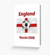 England - Russland 2018 Grußkarte