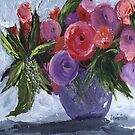 Red and Purple Flowers by jfrier