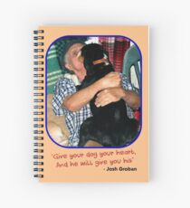 """""""Give Your Dog Your Heart"""" Spiral Notebook"""