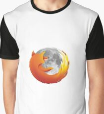 Moon Firefox Graphic T-Shirt