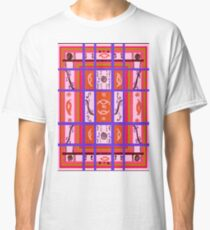 Curvy Plaid Abstract Feminine Folk Art by Kristie Hubler Classic T-Shirt
