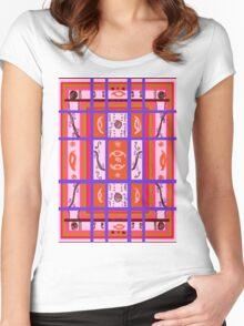 Curvy Plaid Abstract Feminine Folk Art by Kristie Hubler Women's Fitted Scoop T-Shirt
