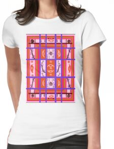 Curvy Plaid Abstract Feminine Folk Art by Kristie Hubler Womens Fitted T-Shirt