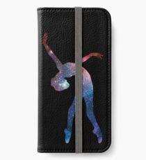 Galaxy ballerina / dancer / gymnast - backbend (galaxy texture) - ballet lover / gymnastics lover / yoga lover iPhone Wallet/Case/Skin