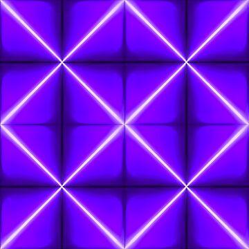 Indigo Geometric Pyramid Pattern by DigitalShmo