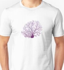Purple and Ivory Coral Unisex T-Shirt
