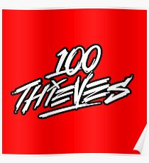 100 Thieves || white and black Poster