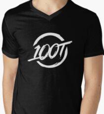 100 Thieves || White Men's V-Neck T-Shirt