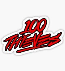 100 Thieves || RED & Black Sticker