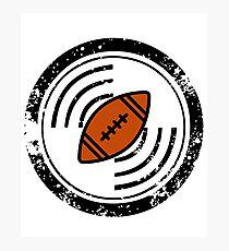 Distressed Circular Football Design Photographic Print
