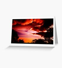 Storms on Shelly's beach Greeting Card