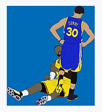 Steph Curry Standing Over LeBron Photographic Print