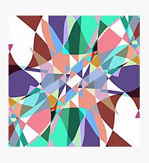 Triangle Pinch Color Splash Photographic Print