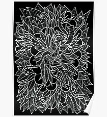 Black and White Doodle Poster