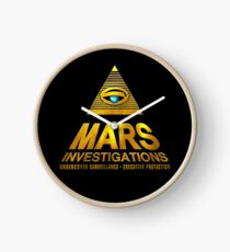 Mars Investigations Clock