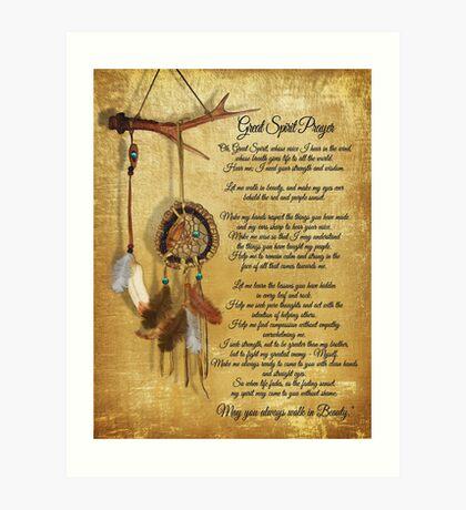 Ureinwohner-großer Geist Gebet Kunstdruck