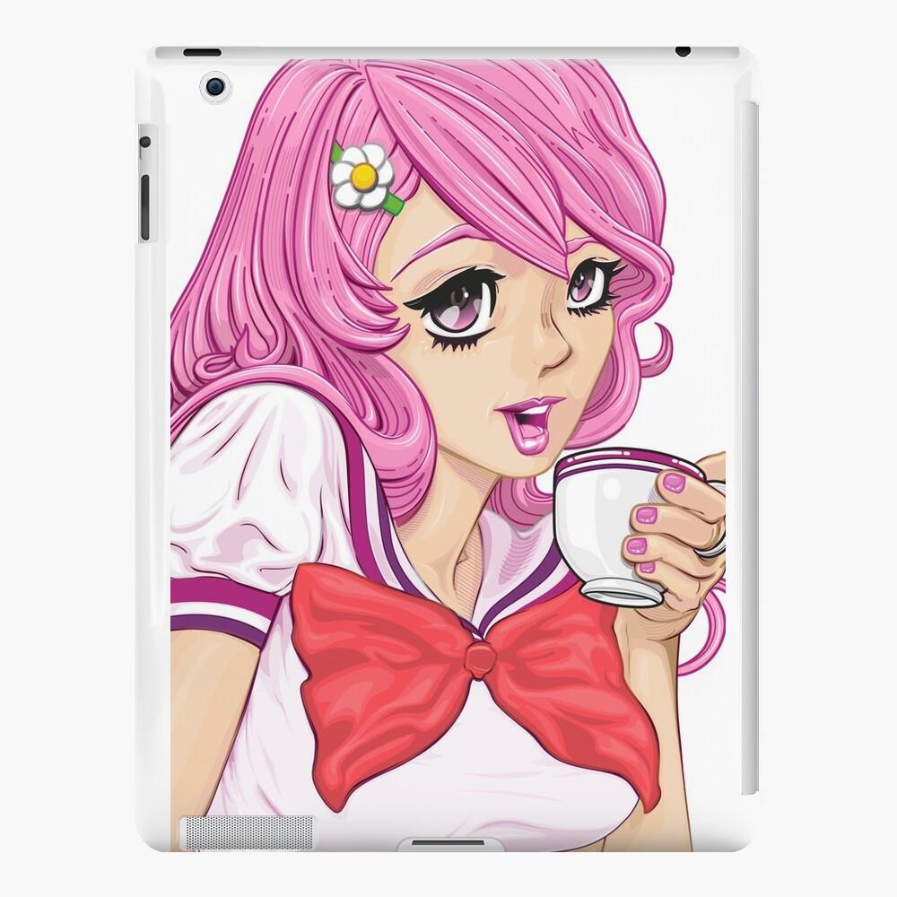 The Sail On Tea House kawaii version iPad Cases & Skins