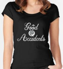 Good at Accidents | Accident Prone - Vintage Style Women's Fitted Scoop T-Shirt