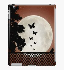 Flutter by moon sihouette iPad Case/Skin