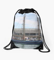 Sleek Lines Drawstring Bag