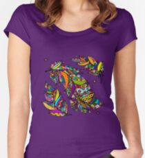 Art feathers Women's Fitted Scoop T-Shirt