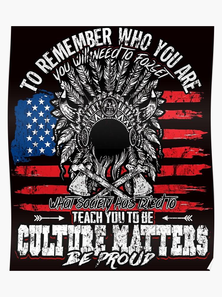 Native american - culture matters | Poster