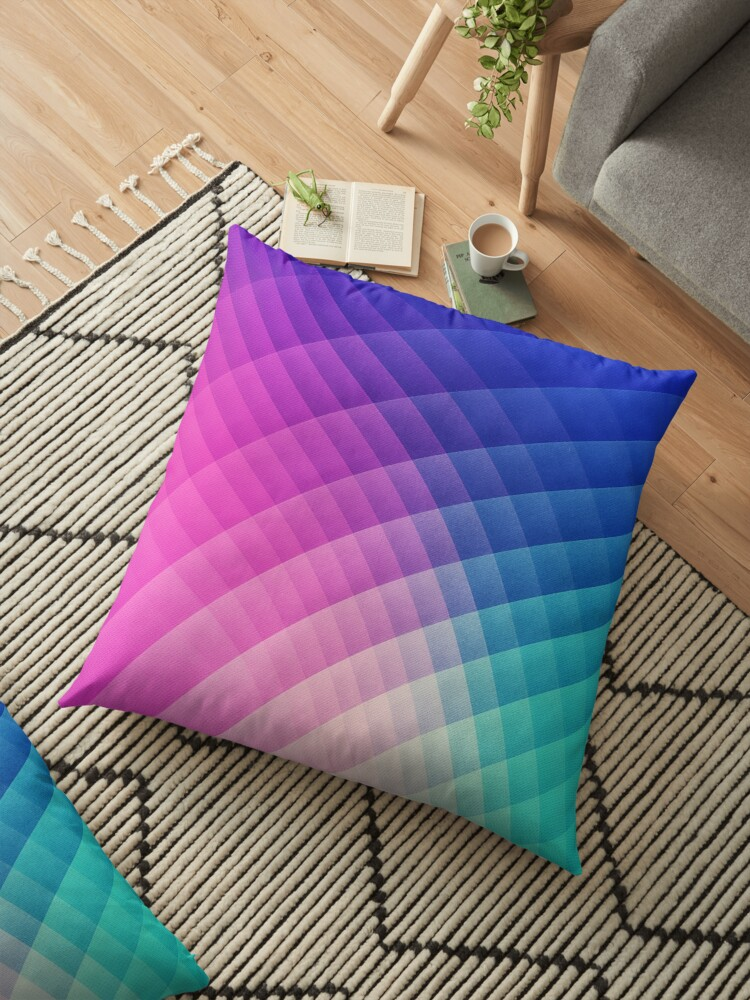 'Abstract Colorful Art Pattern (LTBG - Low poly) - Texture aka  Spectrum  Bomb! (Photoshop Colorpicker Experimental Pattern) HDR' Floor Pillow by