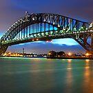 """ Bathed In Colour ..  The Sydney Harbour Bridge "" by Darren Gray"
