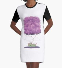 Dehra Napping Graphic T-Shirt Dress