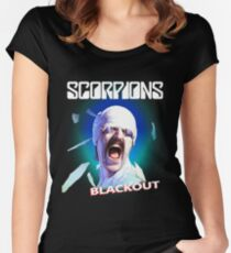 Scorpions - Blackout Women's Fitted Scoop T-Shirt