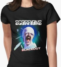 Scorpions - Blackout Women's Fitted T-Shirt
