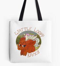 Wattle Loopy Ranch Logo Tote Bag