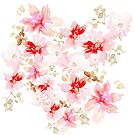 Pink and White Grace Floral by Amy B