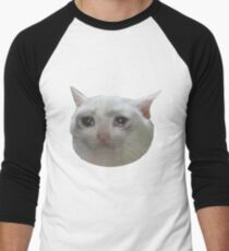 weinende Katze. jpg Baseballshirt für Männer