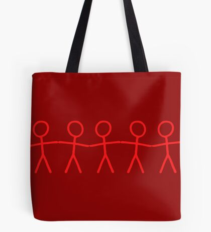 #WalkInRed People Chain Tote Bag